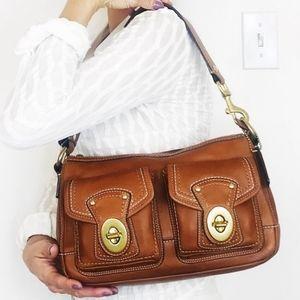 Coach Legacy Mandy Whiskey Leather Shoulder Bag